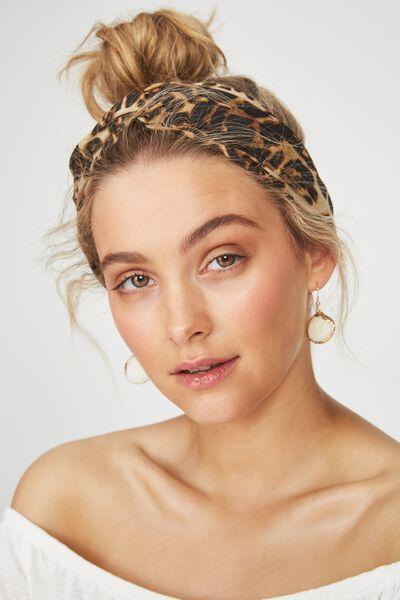 Manhattan Headband, LEOPARD