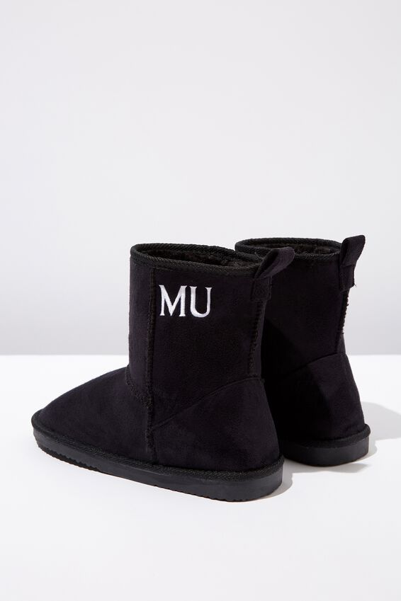 Personalized Short Home Boot, BLACK