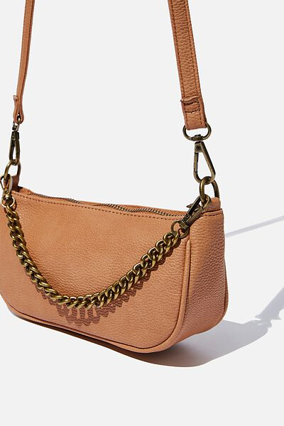 Sophia Chain Cross Body Bag, TAN