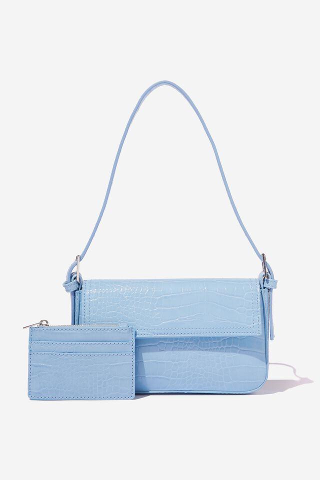 Daisy Cardholder, BLUE TEXTURE