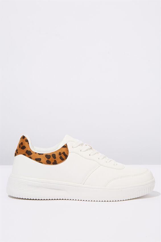 Alice Low Rise Sneaker, LEOPARD WHITE