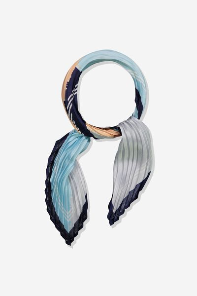 Soho Broadway Pleat Scarf, COLOUR BLOCK ECLIPSE