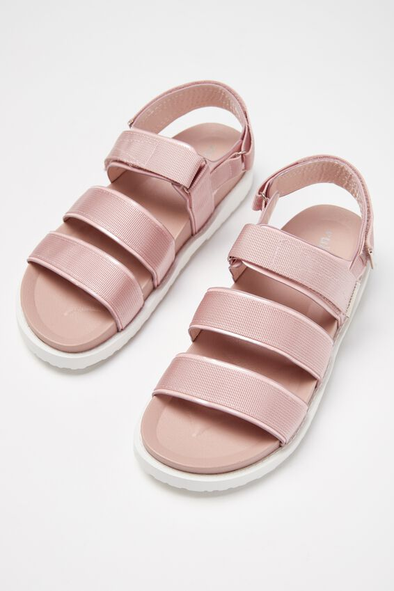 Bronte Webbing Sporty Sandal, DUSTY ROSE