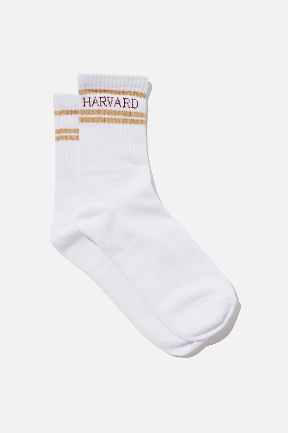 Fine Rib Sports Sock, LCN HAR HARVARD