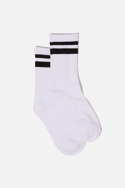 Club House Crew Sock, WHITE