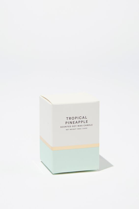 Body Embossed Candle, FADED MINT