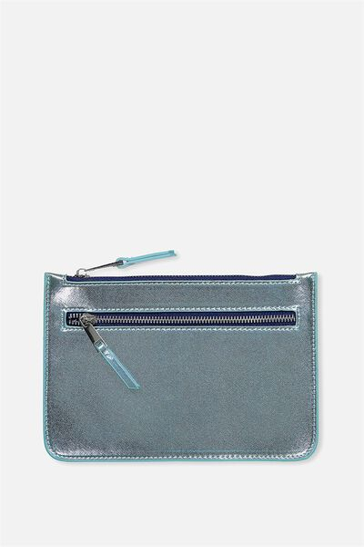 Queens Clutch Purse, MOONLIGHT METALLIC