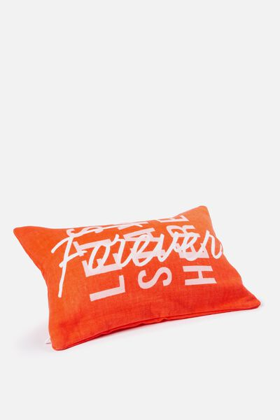 Waikiki Inflatable Pillow, RED/STAY HERE FOREVER
