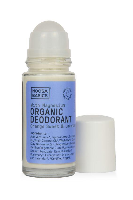 Noosa Basics Deodorant Roll On Sensitive Skin, SWEET ORANGE AND LAVENDER