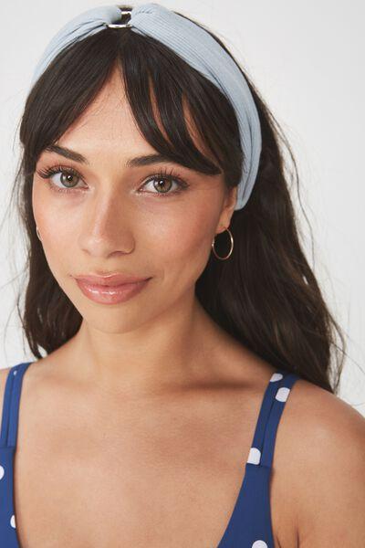 Manhattan Headband, RING DETAIL LIGHT BLUE