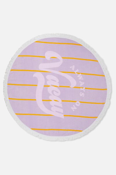 Lying Round Towel, LILAC ALWAYS ON VACAY