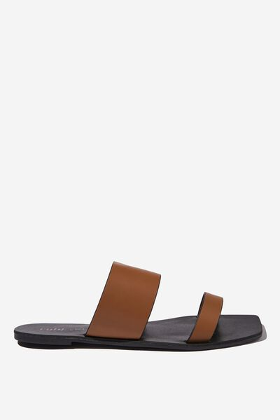 Everyday Kylie Two Strap Slide, TAN PU