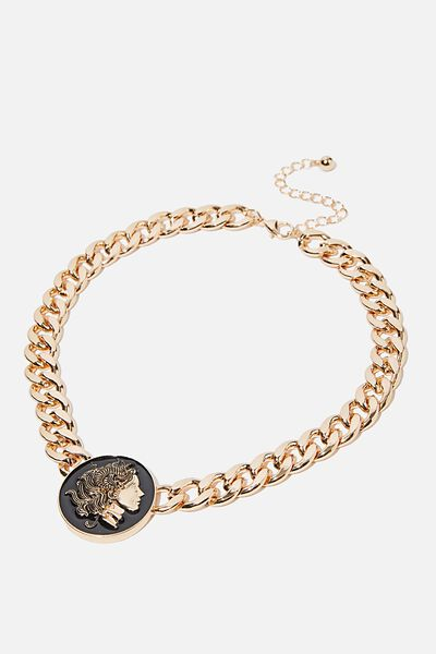 Halen Romance Necklace, BLACK