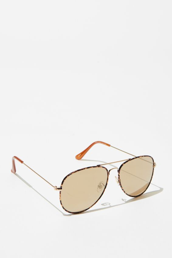 Arabella Metal Sunglasses, TORT