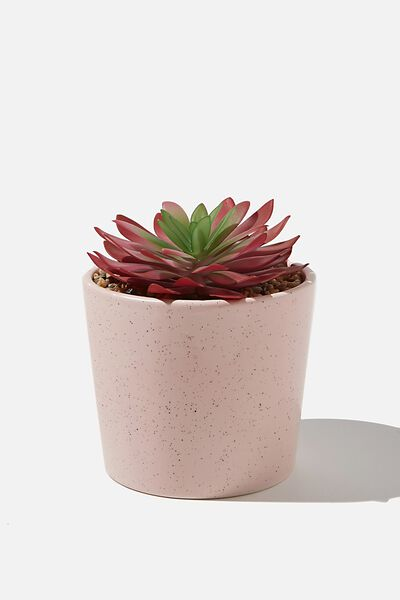 Large Planter, PINK SPECKLE