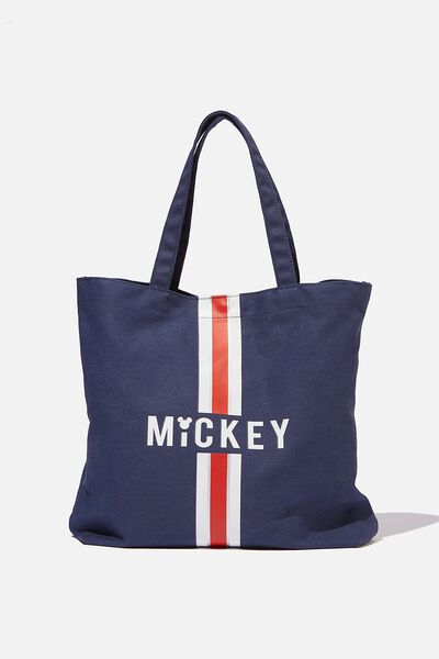 Minimalist Washed Tote, LCN MICKEY NAVY/RED