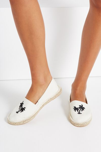 Palm Espadrille, CREAM
