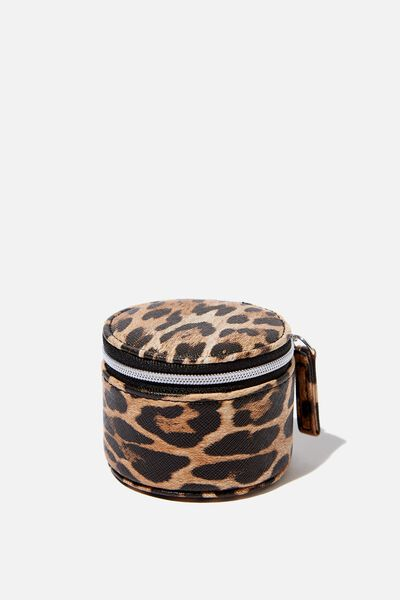 Mini Jewellery Box, NATURAL LEOPARD