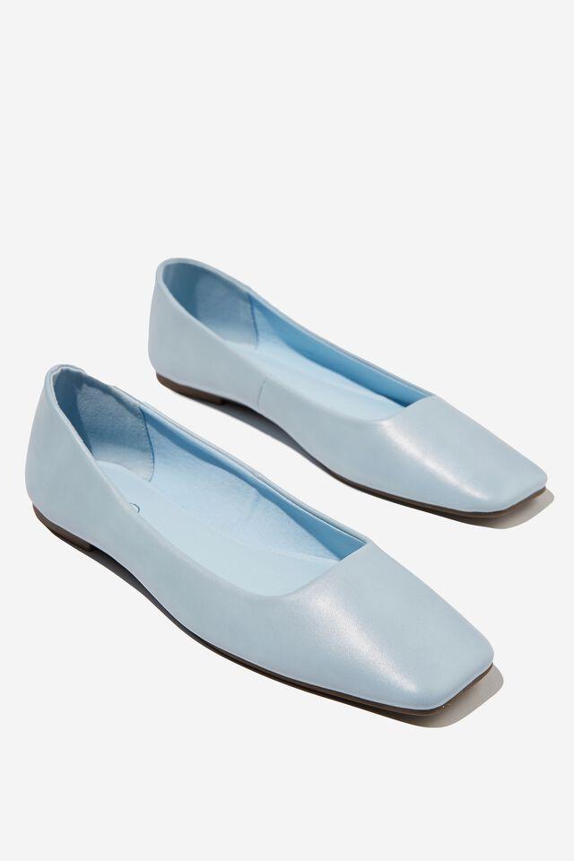 Square Toe Ballet, POWDER BLUE PU