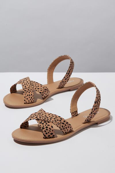 Everyday Banting Crossover Sandal, NEUTRAL CHEETAH PRINT