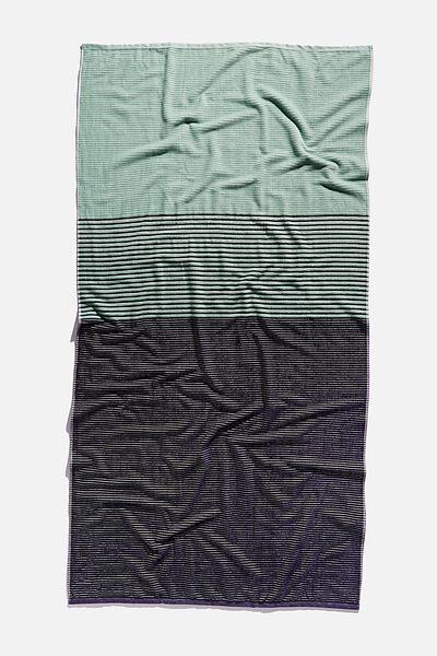 Bondi Rectangle Towel, LUSH GREEN COLOUR BLOCK