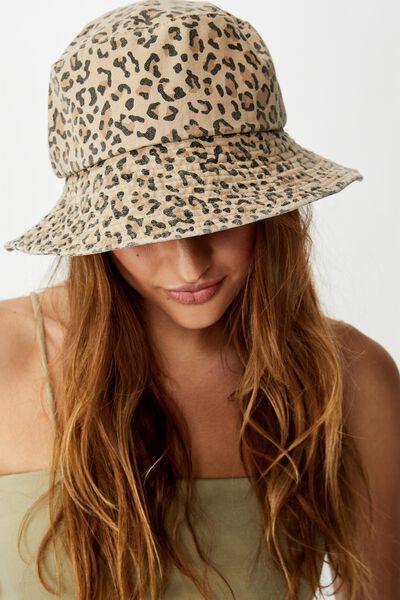 Bianca Bucket Hat, LEOPARD PRINT