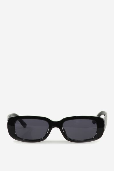 Abby Sunglasses, BLACK/BLACK MONO