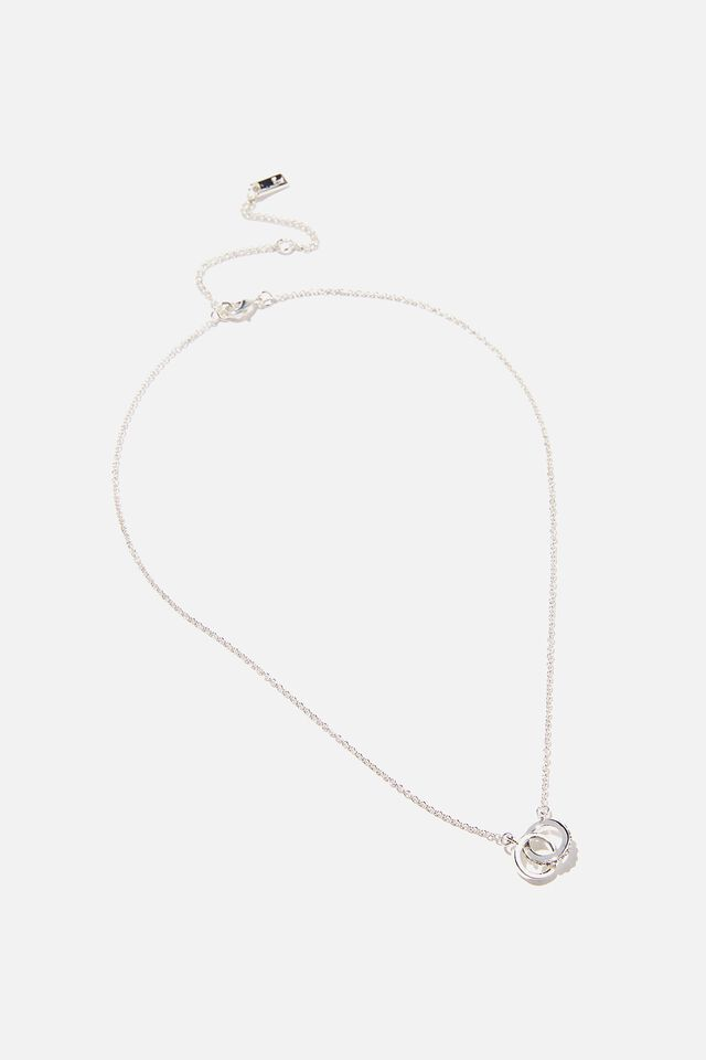Premium Treasures Necklace, STERLING SILVER PLATED ETERNITY