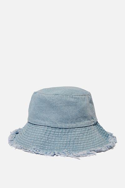 Bianca Bucket Hat, DENIM FRINGE