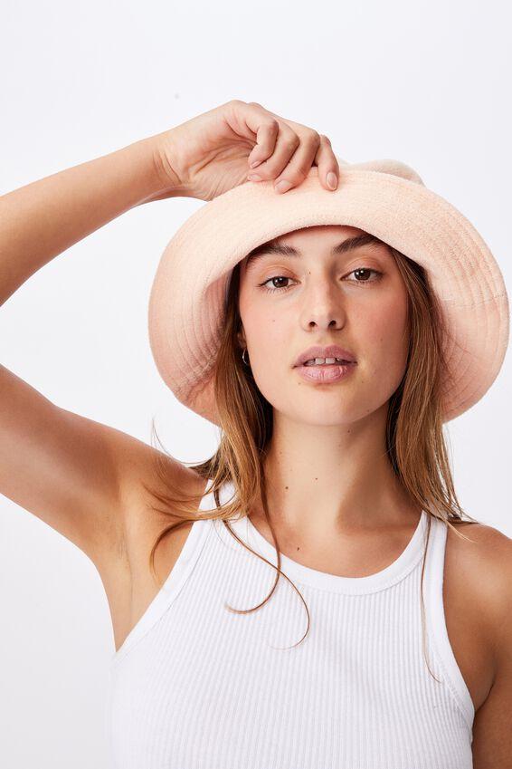 Bianca Bucket Hat, SOFT PEACH TERRY