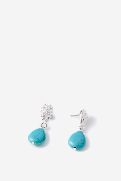 Clementine P&T Earring, GOLD/TURQUOISE