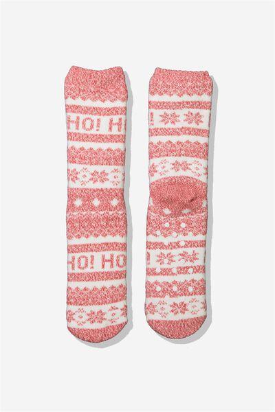 Loungin Round Sock, HO HO HO