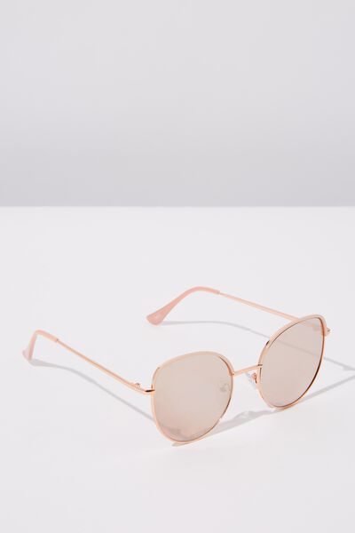 Jazz Top Arch Sunglasses, ROSE GOLD BLUSH