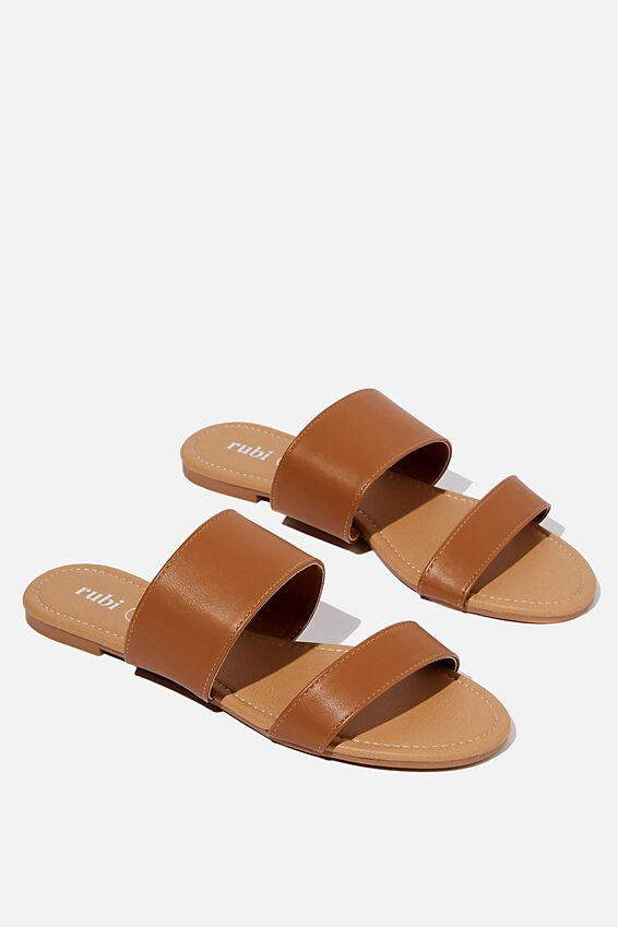Everyday Twin Strap Slide, TAN PU