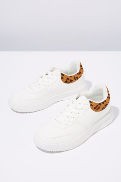 Alice Low Rise Sneaker, LEOPARD WHITE