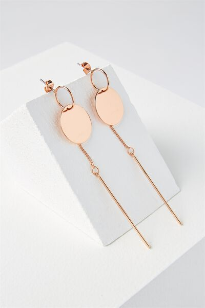 Brianna Earring, ROSE GOLD
