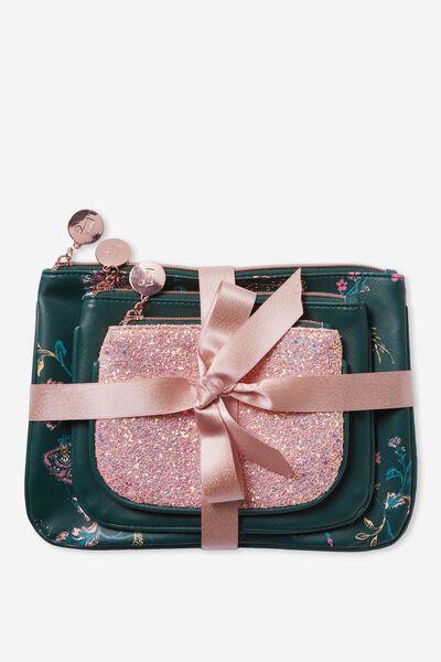 3 Piece Gift Set, FLORAL JUNE BUG