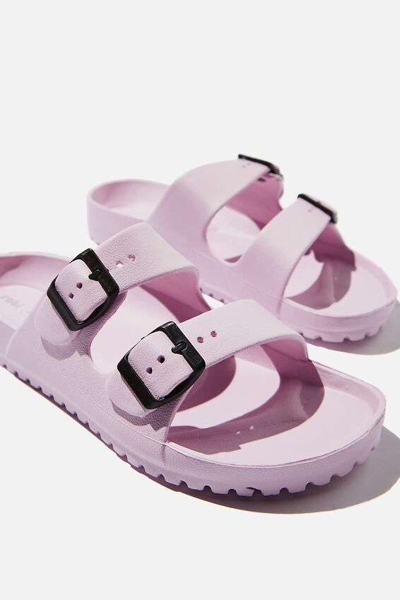 Gilmore Double Buckle Slide, LILAC