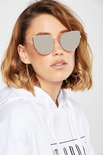 Sherry Sunglasses, ROSE GOLD/ROSE SILVER LENS
