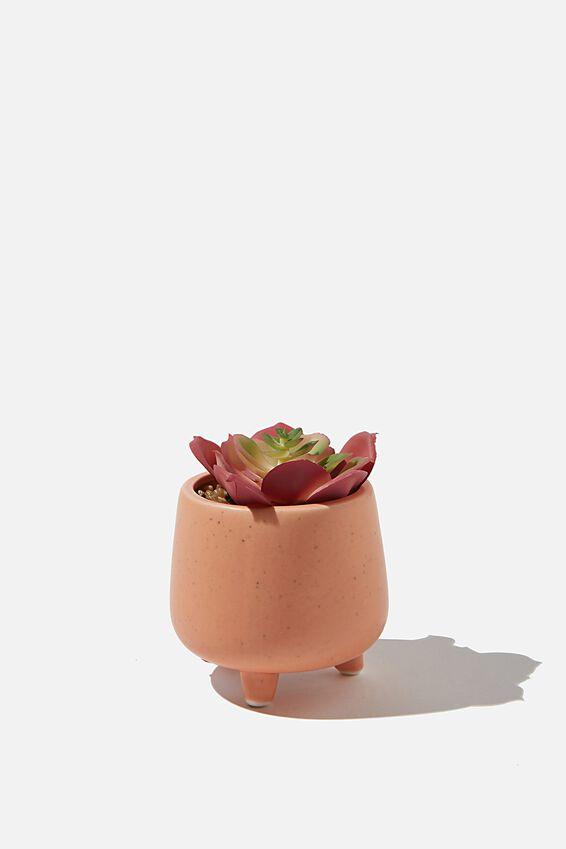 Mini Planter, PEACH SPECKLE
