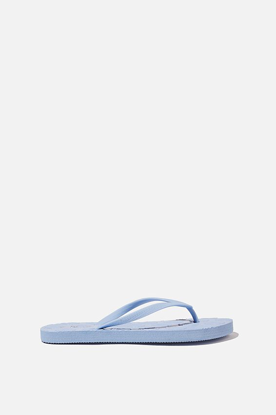The Rubi Flip Flop, BLUE SHELL EMBOSSED