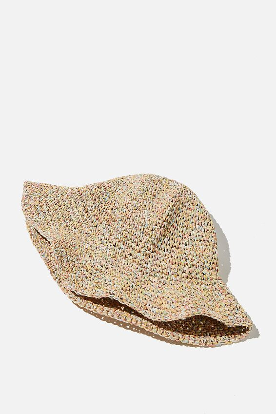 Kimberley Crochet Bucket Hat, RAINBOW