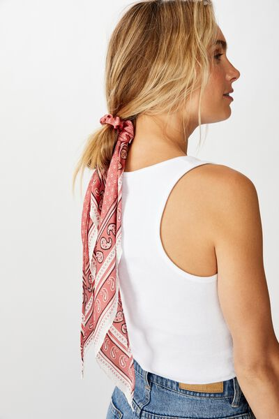 New York Convertible Scrunchie, CANYON ROSE BANDANA