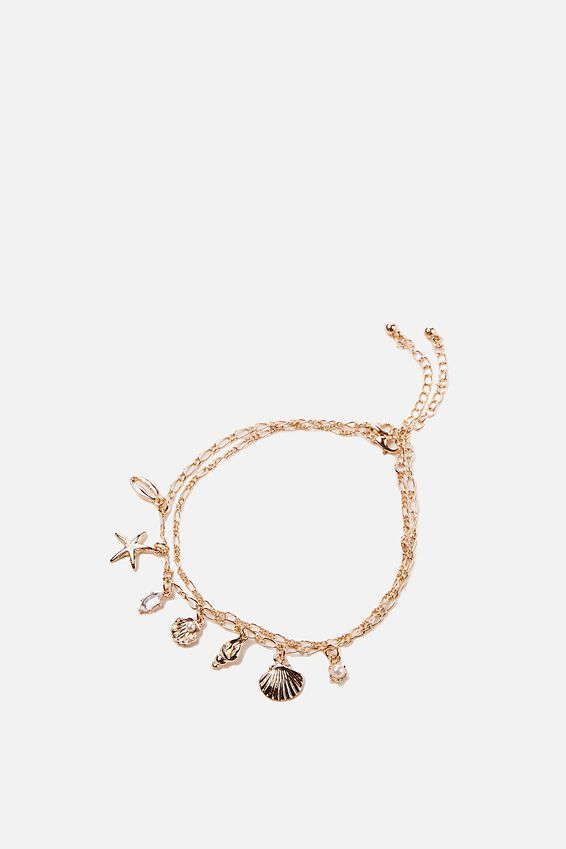 Carrie Chain Anklet, BEACHY CHARMS