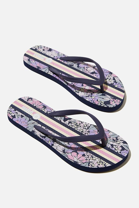 The Rubi Flip Flop, FLORAL STRIPE LILAC