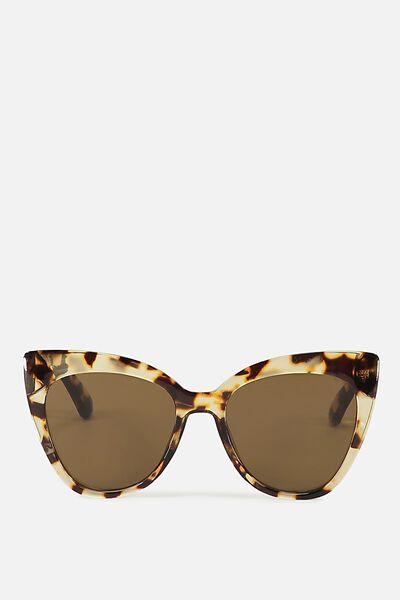 Whitney Cat Eye Sunglasses, MILKY TORT