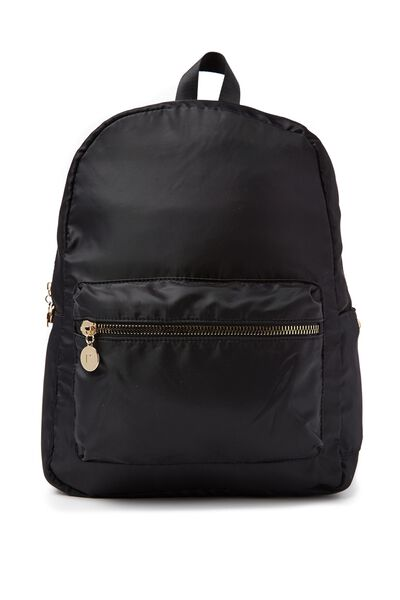 Traveller Backpack, BLACK W/ GOLD