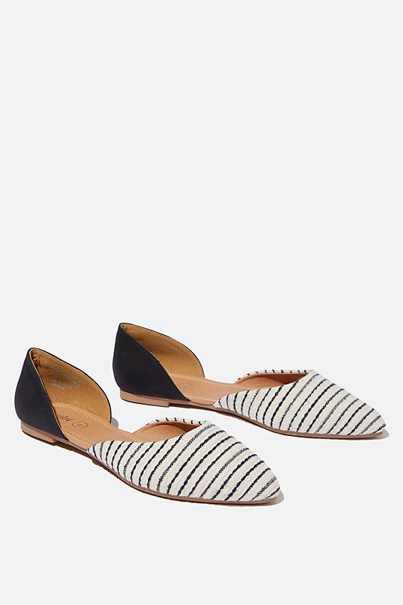 Essential Bonnie Cut Out Point, NAVY WITH STRIPE