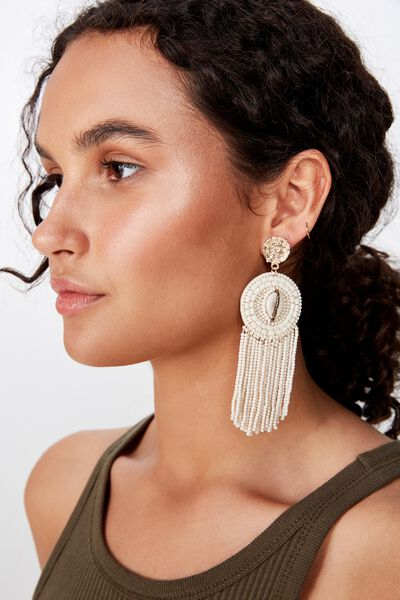 Lost Paradise Shell Earring, NATURAL/GOLD
