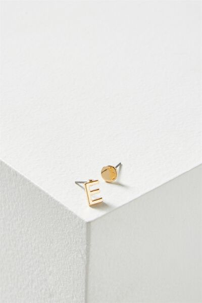 Alpha Stud Earring, GOLD - E